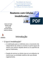 Reatores com células imobilizadas