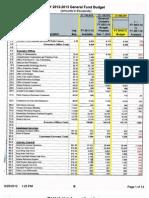 2012-13 General Fund