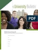 Nyu Steinhardt Graduate Bulletin 2011-2013