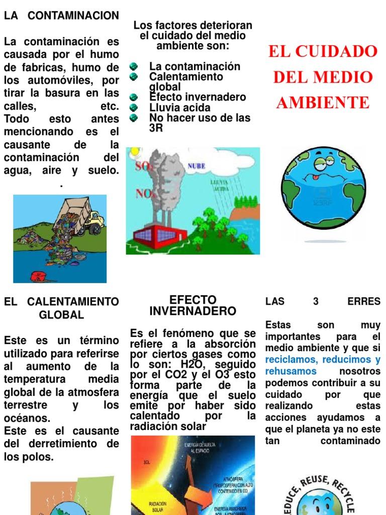 Triptico de la contaminacion - Como solar un suelo ...
