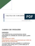 Calculo de Concentraciones 3 Parte