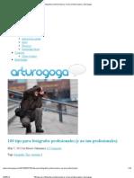 100 tips para fotógrafos profesionales (y no tan profesionales) _ arturogoga