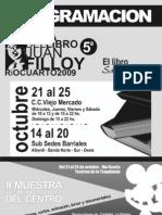 Programa Feria Del Libro Rio Cuarto 2009