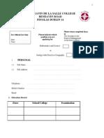 Application_form_Beneavin de La Salle College June 2012 WEBSITE