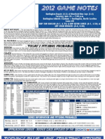 Bluefield Blue Jays Game Notes 6-26
