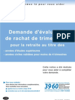 Retraite - Evaluation Rachat