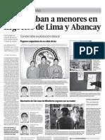 Menores de edad eran esclavizados en negocios de Lima