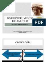 Unidad 7 División del mundo helenístico Juan Guillermo Vanegas Zapata
