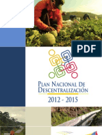 PLAN NACIONAL DE DESCENTRALIZACIÓN DEL ECUADOR 2012-2015