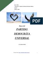 Bases Partido Democrata Universal,Cristian Carter para Beca Universidad Genova, Italia