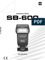 Nikon SB600 Flash Handleiding