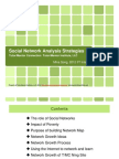 Social Network Analysis - Mapping growth of a Network