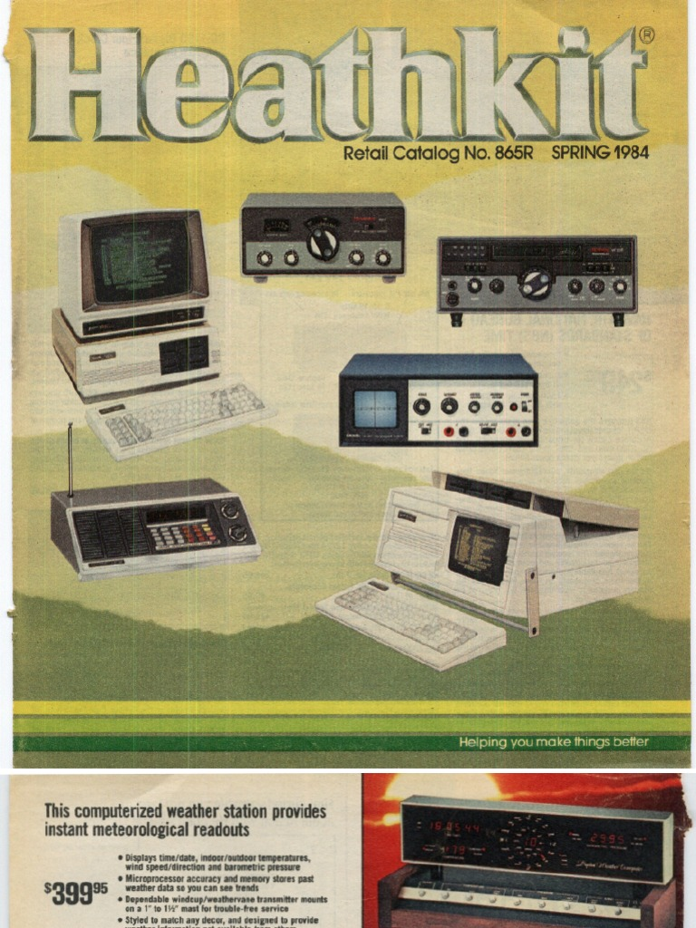 Catalog Y1984 Heathkit No865 Spring Archive Computer Dch H89 Kit Circuits 8085 Projects Blog Scr Trigger Drive Circuit Compact Cassette Equalization Audio