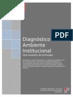Diagnóstico  de ambiente institucional