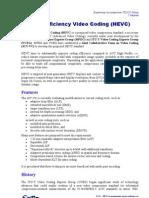 High Efficiency Video Coding H265