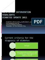 Primary Prevention of Diabetes Update 2011