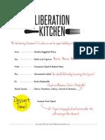 Liberation Kitchen Summer 2012 Free Meal Plan Download