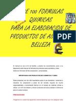 Manual de Formulas Quimicas Productos de Aseo y Cosmeticos