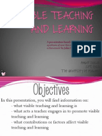 Visible Teaching and Learning