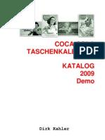 Coca-Cola Taschenkalender Katalog (pocket calendar catalog)