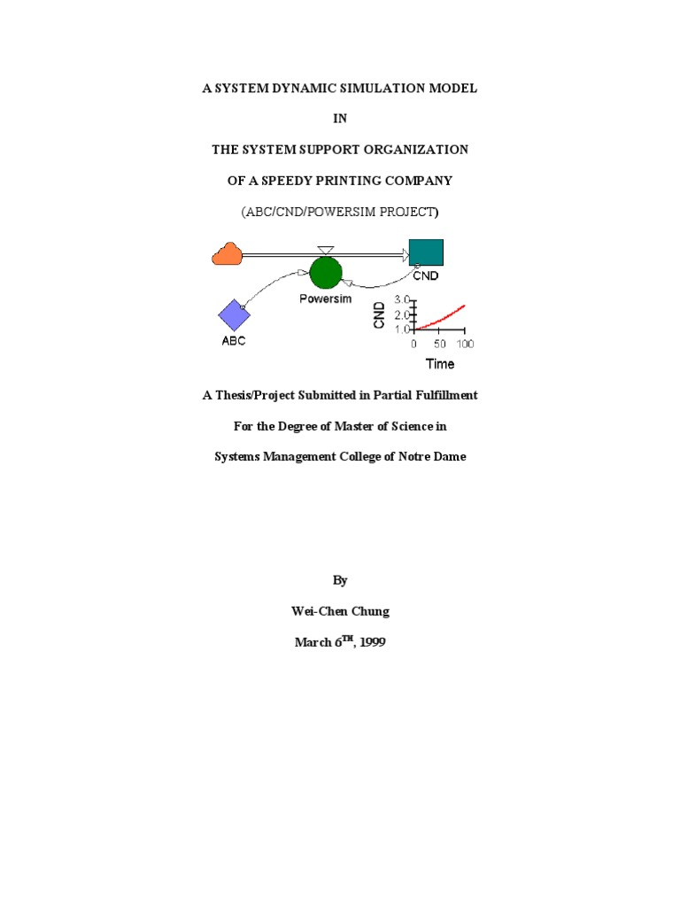 A System Dynamic Simulation Model Simulation Decision Support System