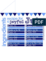 July Recipe Card