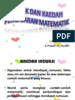 t2- Teknik Dan Kaedah Pengajaran Matematik