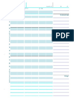Unschedule for A5 planner with facing pages