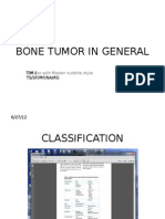 Bone Tumor in General
