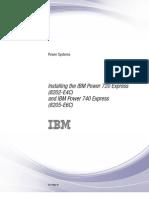Installing the IBM Power 720 Express p7eec
