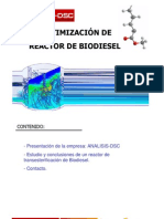 Optimiz Reactor Biodiesel