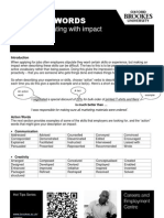Action Words CV