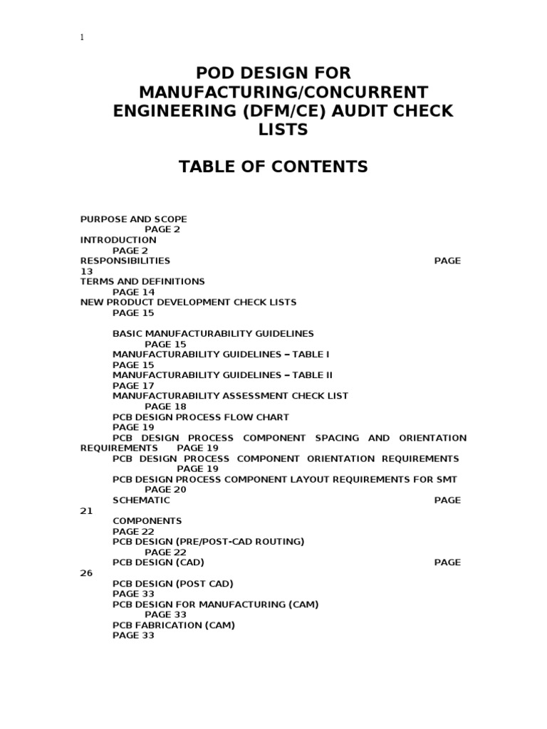 Design For Manufacturing Concurrent Engineering Printed Circuit Board Verification And Validation