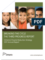 Ontario's Poverty Reduction Strategy 2011 Annual Report