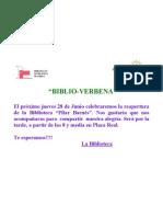 Cartel Verbena