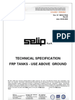 FRP Tank Selip Technical Specification