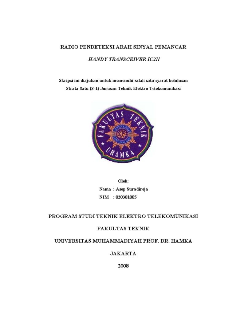 Radio Pendeteksi Arah Sinyal Pemancar Ksep Dj