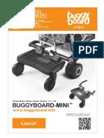 Lascal BuggyBoard-Mini Owner Manual 2012 (Spanish)