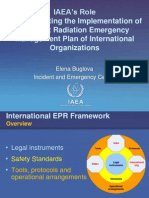 Elena Buglova - IAEA's Rolein Coordinating the Implementation of the Joint Radiation Emergency Management Plan of International Organizations