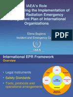 Elena Buglova - IAEA's Rolein Coordinating the Implementation of the Joint Radiation Emergency Management Plan of International Organizations