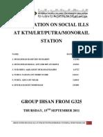 Statistics for Social Ills Problem.