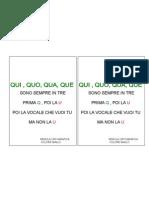 Regola Ortografica Qui, Quo , Qua , Que