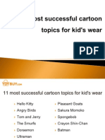 11 Most Successful Cartoon Topics for Kid's Wear