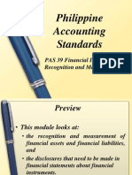PAS 39 Financial Instruments Recognition and Measurements