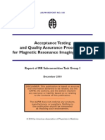 Quality Assurance for MRI by AAPM