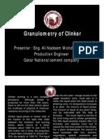 Granulometry of Clinker