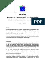 Proposta de Delimitação da APA Serra Velha - Montes Claros - Minas Gerais