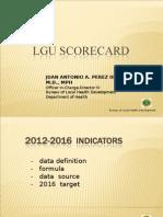 Final LGU Scorecard Indicators 2012-2016 as of April 19