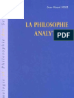 La philosophie analytique - Jean-Gérard Rossi