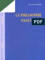 La philosophie analytique - Jean-Gérard Rossi